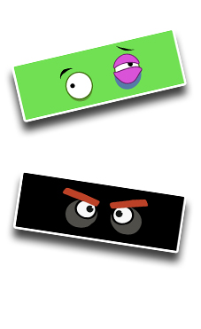 Angry Eyes - Green-Black