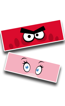 Angry Eyes - Red-Pink