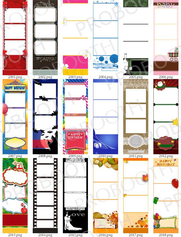 120 2X6 Photo Strip Templates – Bundle A,B,C + D (Darkroom Booth ...