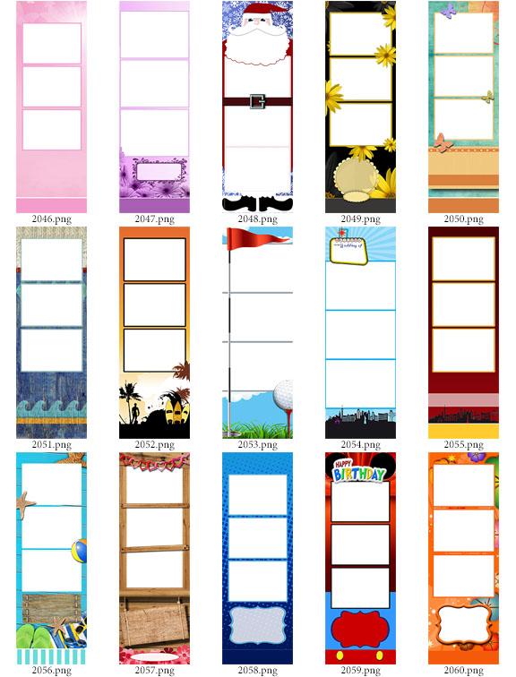 120 2x6 photo strip templates  u2013 bundle a b c   d  darkroom